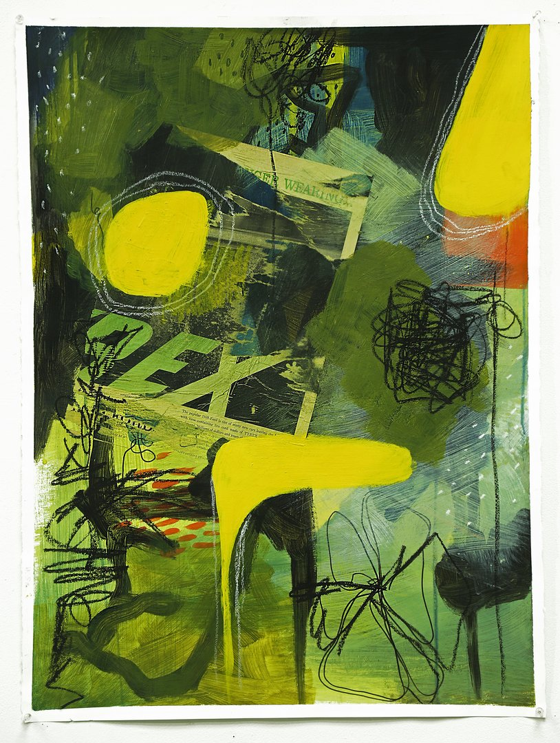Abstract collage with green and yellow tones and black scribbles.jpg