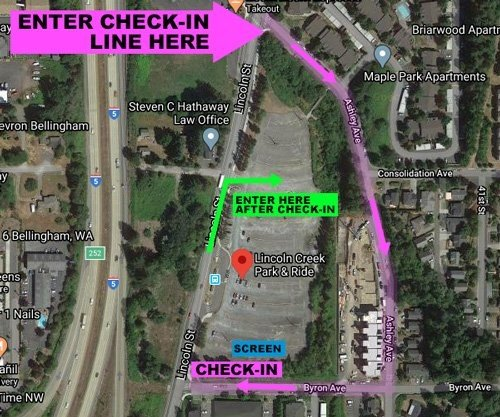 LCTC Drive-In map
