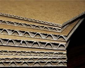 Stack of corrugated cardboard