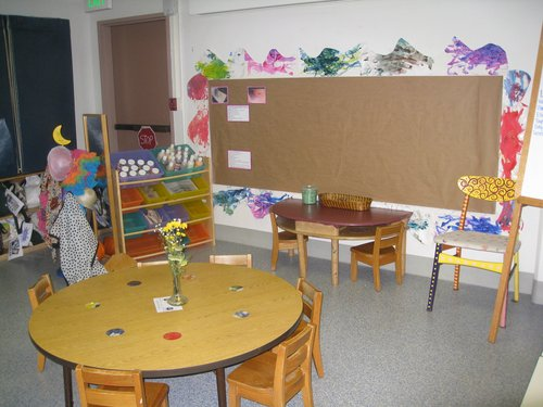 Craft area in toddler classroom