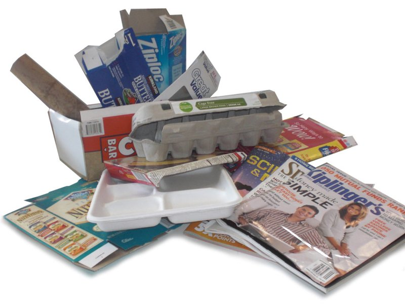 Egg carton, magazine and other paper products